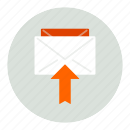 arrow, envelope, mail, up icon