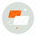 email, envelope, fast, mail, message, speed icon