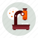 bacteria, experiment, laboratory, microscope, research, science, virus icon