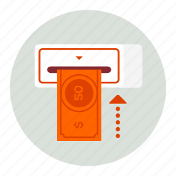 currency, machine, money, payment icon