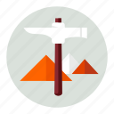 mountain, mountains, pickaxe icon