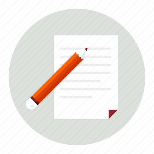 document, paper, pen, pencil, writing icon