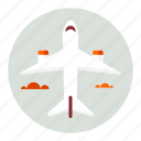 airplane, flight, plane, transport, transportation, travel icon