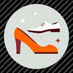 fashion, man, shoes, woman icon