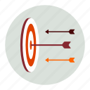 arrows, creative, target icon