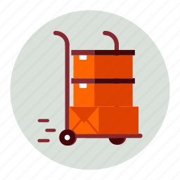 boxes, delivery, ecommerce, loading, parcels, shipping, trolley icon
