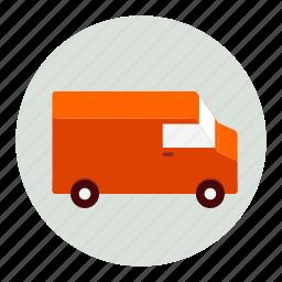 delivery, logistics, transport, transportation, truck icon