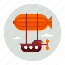 flight, fly, vehicle, zeppelin icon