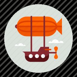 flight, fly, vehicle, zeppelin icon