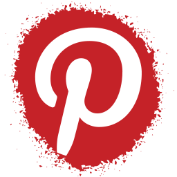 colour, media, pinterest, set, social, spray icon