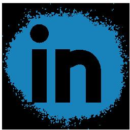 colour, linkedin, media, set, social, spray icon