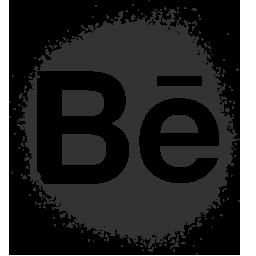 behance, colour, media, set, social, spray icon