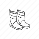 boots, fashion, foot gear, gear, protection, rain, rain boots icon
