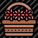 flowers, basket, nature, garden