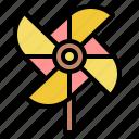 pinwheel, wind, toy, spring