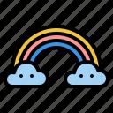 rainbow, sky, nature, rain
