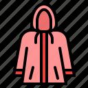 raincoat, cloth, wearing, protection