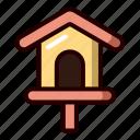 bird, house, spring, bird house