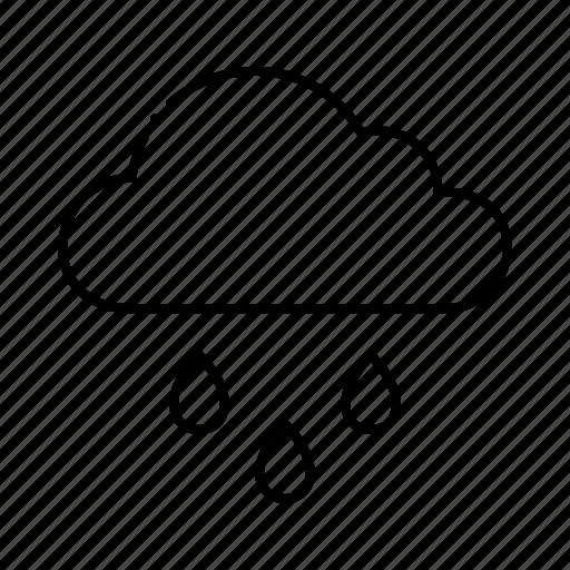 Raining, rain, cloud, weather icon - Download on Iconfinder