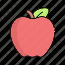 apple, fruit, food, vegetarian