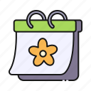 spring, calendar, flower, date