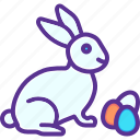 bunny, easter, eggs, paschal, play, rabbit