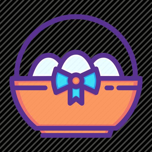 basket, easter, egg, eggs, gift, present, spring icon