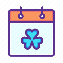 calendar, day, event, festival, patrick, saint, shamrock icon