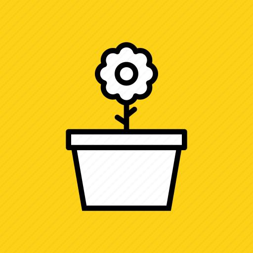 blossom, ecology, flower, gardening, pot, spring, sunflower icon