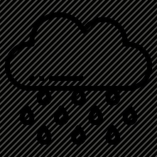 Raining, rain, weather, cloud icon - Download on Iconfinder