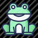 frog, spring, plant, nature, season, natural