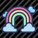 rainbow, spring, plant, nature, season, natural