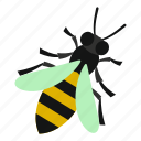 bee, fly, honey, insect, nature, summer, wing icon