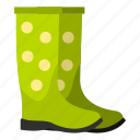 boots, equipment, foot, footwear, rubber, winter, work icon