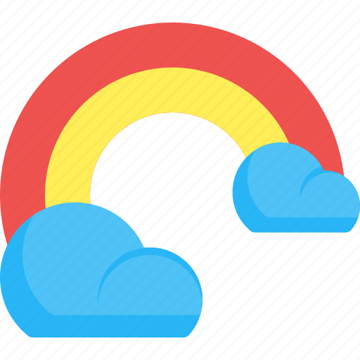 Cloud, colorful, rainbow, weather icon - Download on Iconfinder