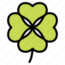 botanical, clover, good, leaf, luck icon