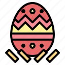 easter, egg, hearts, romantic icon