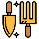 equipment, gardening, rake, tools icon