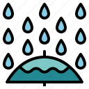 nature, plant, rain, weather icon