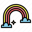 atmospheric, rainbow, spectrum, weather icon