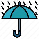 protection, rainy, umbrella, weather icon