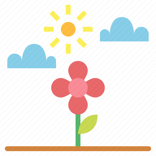 flower, green, spring, tree icon