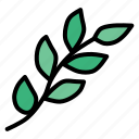 branch, easter, ecology, green, leaf, nature, spring icon