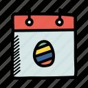 calendar, celebration, day, easter, egg, event, festival