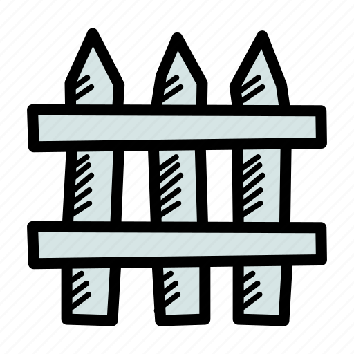 barrier, farm, fence, garden, picket, wooden, yard icon