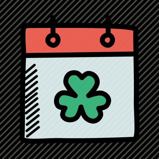 calendar, day, event, festival, patrick, saint, shamrock icon