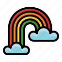 spring, season, nature, cloud, rainbow