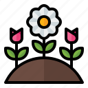 spring, season, nature, tulip, hill, flower