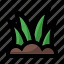 garden, grass, spring icon
