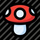 spring, mushroom, food icon